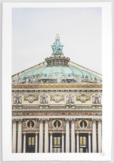 JR, 'Ballet, Regard surplombant la façade du Palais Garnier, Opéra de Paris, France, 2014', 2018