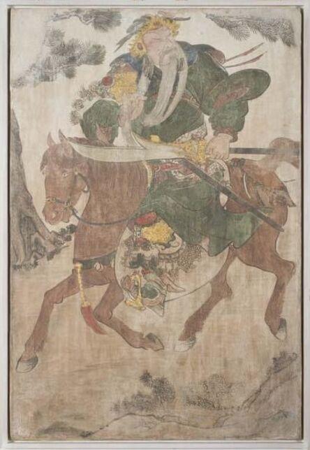 Unknown Artist, 'General Guan Yu on Horseback', Ming or Qing Dynasty-17th century