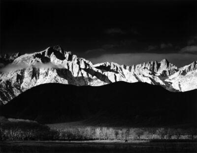 Ansel Adams, 'Winter Sunrise, Sierra Nevada, From Lone Pine', 1944