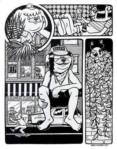 Brian Maclaskey, 'WATCH THE WORLD GO BY', 2021
