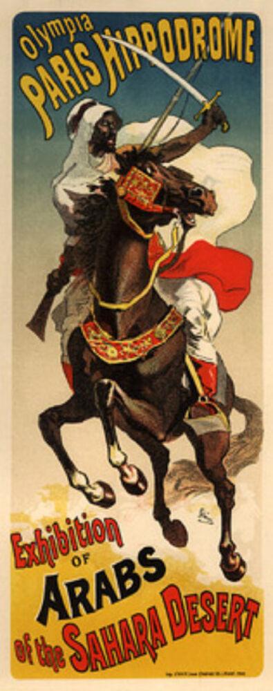 Jules Chéret, 'Exhibition d'Arabes Sahara', 1895-1900