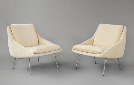 Steiner design studio, 'Pair of armchairs 800', 1958