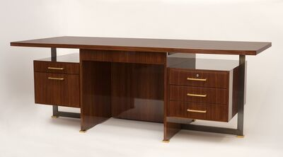Maison Leleu, 'Rare Exectuive Desk with Conference Table Extension', 1966