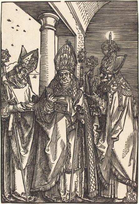 Albrecht Dürer, 'Saints Nicholas, Ulrich and Erasmus', ca. 1508