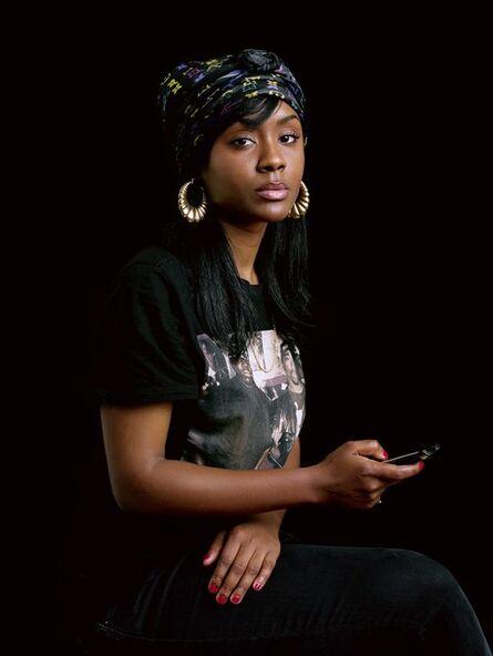 Awol Erizku, 'Girl with a Blackberry ', 2011