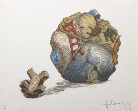 Claes Oldenburg, 'HOUSEBALL WITH FALLEN TOY BEAR', 1997