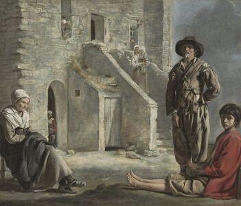 Louis Le Nain, 'Peasants before a House', ca. 1640
