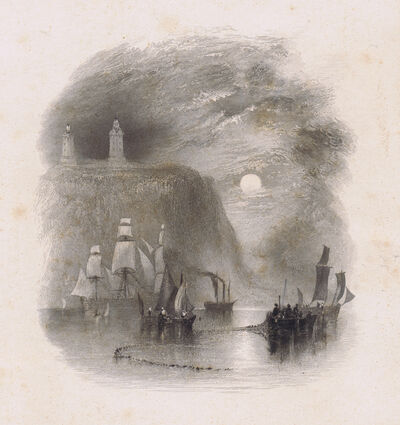 J. M. W. Turner, 'Light Towers of the Heve', 1834