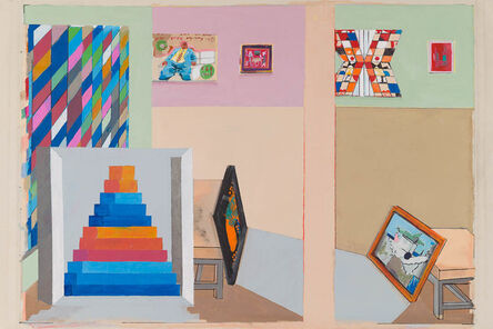 Stephen Farthing, 'The Museum of Post Cubist Painting', 2017