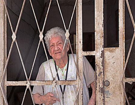 Neil O. Lawner, 'Woman Behind Entryway Gate'