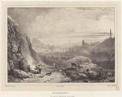 Richard Parkes Bonington after Francois Alexandre Pernot, 'Edimbourg vu de la Chapelle Saint-Antoine', 1826