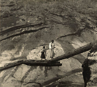 Fritz Henle, 'Precarious Bridge in the Wild Korean Mountains', 1973
