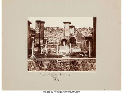 Giorgio Sommer, 'House of Marcus Lucretius, Pompei, Italy and Napoli (two photographs)', 1863; circa 1880s