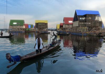 NLÉ, 'Makoko Delta (rendering)', 2014