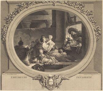 Nicolas Delaunay after Jean-Honoré Fragonard, 'L'heureuse fécondité', 1777