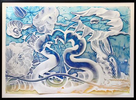 Catherine Howe, 'Reverse Mylar Painting (Bluebird)', 2019