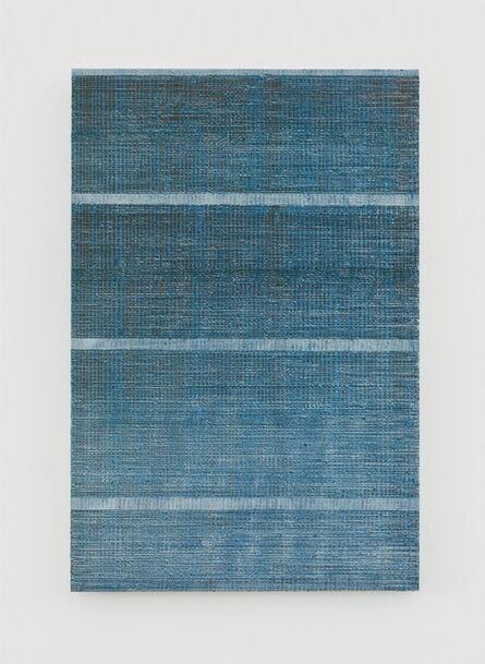 Chi Qun 迟群, 'Four Lines - Grey, Blue & Brown', 2017