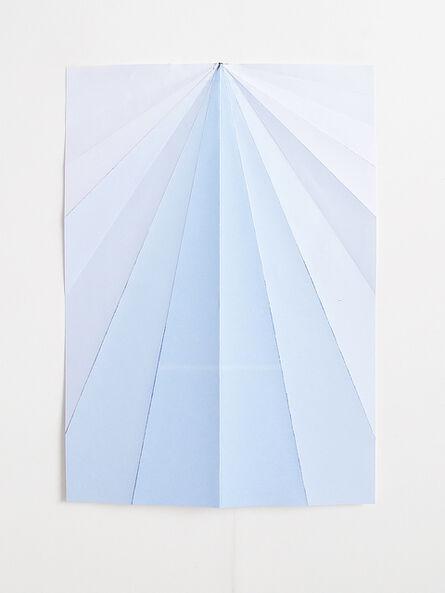 Caline Aoun, 'Blue Paperplane', 2015