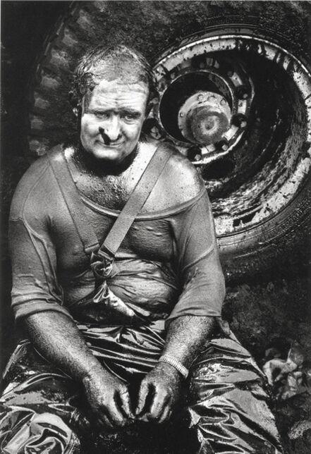 Sebastião Salgado, 'Worker resting, Covered in oil, Oil wells, Kuwait', 1991