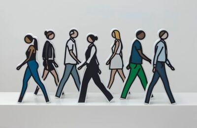 Julian Opie, 'Walking Statuettes', 2017