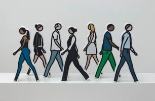 Julian Opie, 'Walking Statuettes', 2017