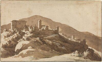 Jan de Bisschop, 'A View of Savelli near Albano'