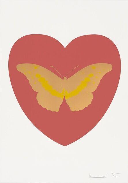 Damien Hirst, 'I Love You - coral, cool gold, oriental gold ', 2015