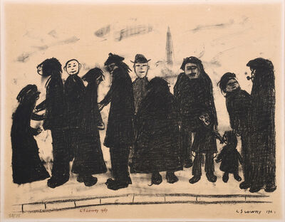 Laurence Stephen Lowry, 'Shapes and Sizes', 1967