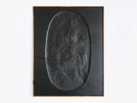 Julian Watts, 'Black Painting (Oval)', 2017