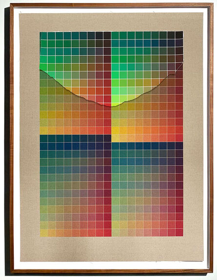 Analía Saban, 'Transcending Pigment from Paint to Canvas, from Canvas to Paint (Color) #2 No. IX', 2020