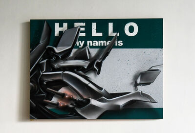 """Robert """"Dytch66"""" Gomez, 'Hello My Name Is """"Letter C""""', 2017"""