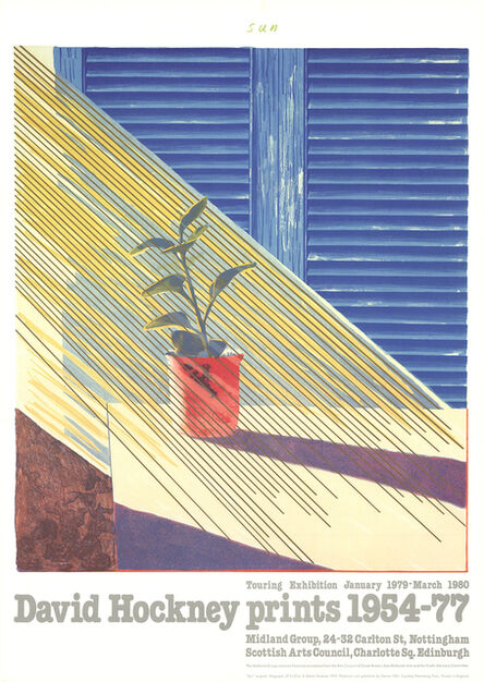 David Hockney, 'Sun from the Weather Series', 1981