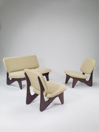 Ilmari Tapiovaara, 'Free form set composed of one sofa and two seats', 1951