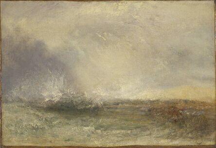 J. M. W. Turner, 'Stormy Sea Breaking on a Shore', 1840-1845