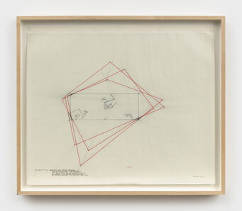 Barry Le Va, 'Installation Study: Accumulated Vision: Extended Boundaries', 1977