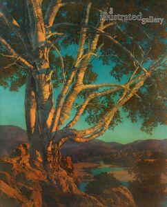 Maxfield Parrish, 'Old White Birch', 1937