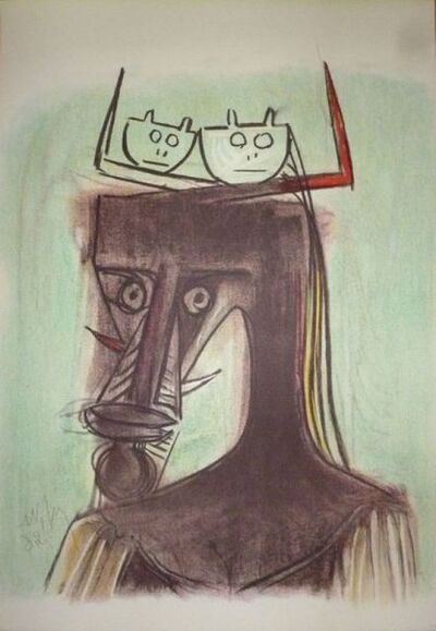 Wifredo Lam, 'Artists of the world against apartheid ', 1982