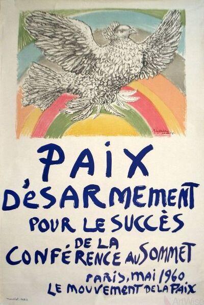 Pablo Picasso, 'Paix Disarmement-Peace', 1960