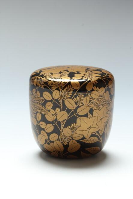 Ida Senshū, 'Fall Grasses Tea Caddy (T-3849)', Taisho or early Showa eras 1920s-1930s