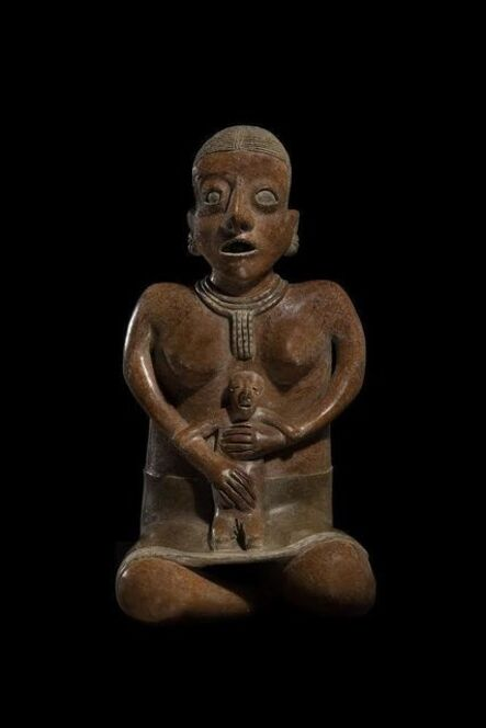'Chinesco, Seated Mother & Child, Proto-classic', ca. 100 BCE – 250 CE