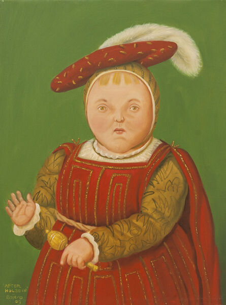 Fernando Botero, 'After Holbein', 2009