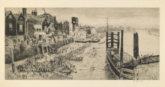 Walter Greaves, 'Old Chelsea, the Last Regatta', 1871