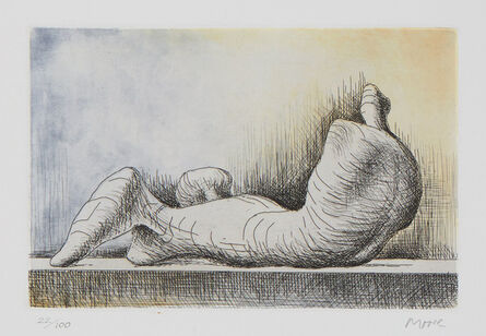 Henry Moore, 'Reclining Figure, Back', 1976