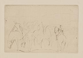 Pablo Picasso, 'L'Abreuvoir (Chevaux au bain), from La suite des Saltimbanques', 1905