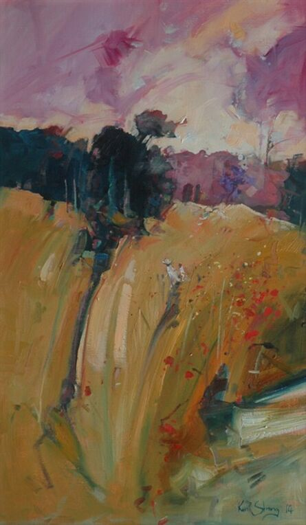 Ken Strong, 'Falling Poppies', 2014