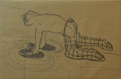 Osías Yanov, 'Sin título (manos en el piso)', 2011