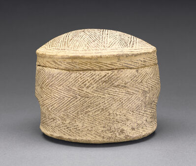 'Cylindrical Pyxis and Lid of the Grotta-Pelos Group', 3000 BCE -2800 B.C.