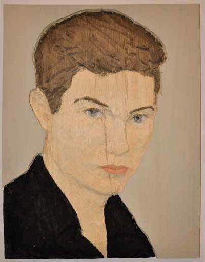 Stephan Balkenhol, 'Man With Black Shirt', 2014