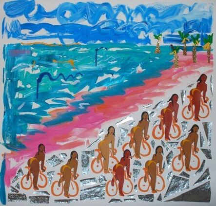 Monica Kim Garza, 'Untitled Bike Painting ', 2016