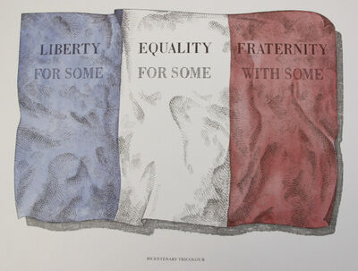 Ian Hamilton Finlay, 'Bicentenary Tricolour', 1989